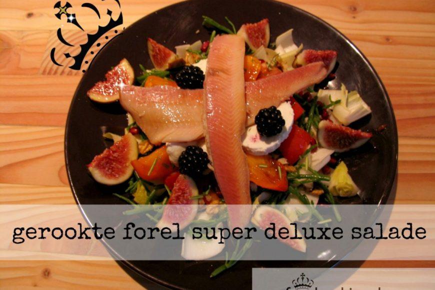 Gerookte forel super deluxe salade
