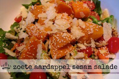Zoete aardappel sesam salade