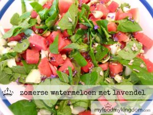 blog zomerse watermeloen met lavendel