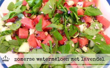 Zomerse watermeloen met lavendel