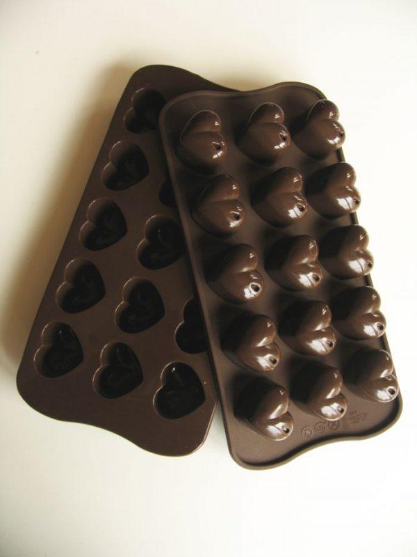 chocolade vorm hartjes