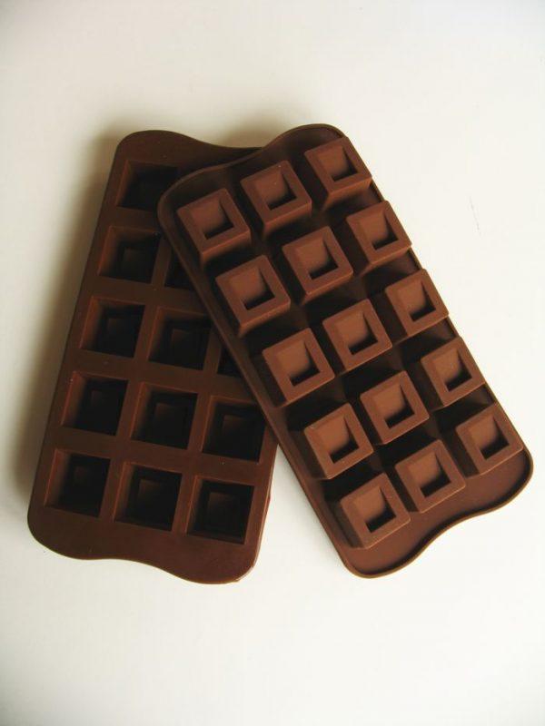 chocolade vorm vierkantjes