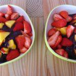 ontbijt fruit met ijs
