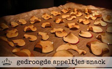 gedroogde appeltjes snack
