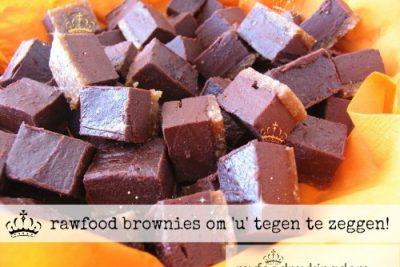 rawfood brownies om 'u' tegen te zeggen!