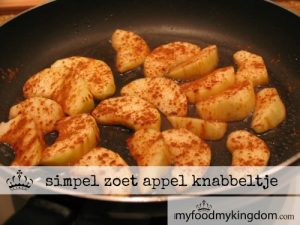 blog simpel zoet appel knabbeltje