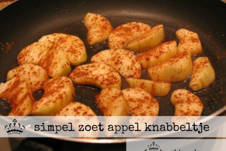 simpel zoet appel knabbeltje