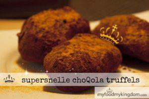 blog supersnelle choqola truffels