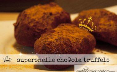 supersnelle choQola truffels