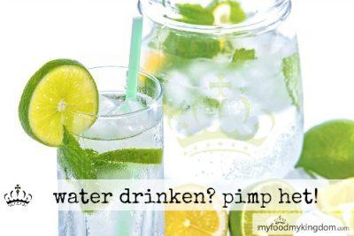 Water drinken? Pimp het!