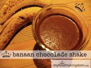 blog banaan chocolade shake