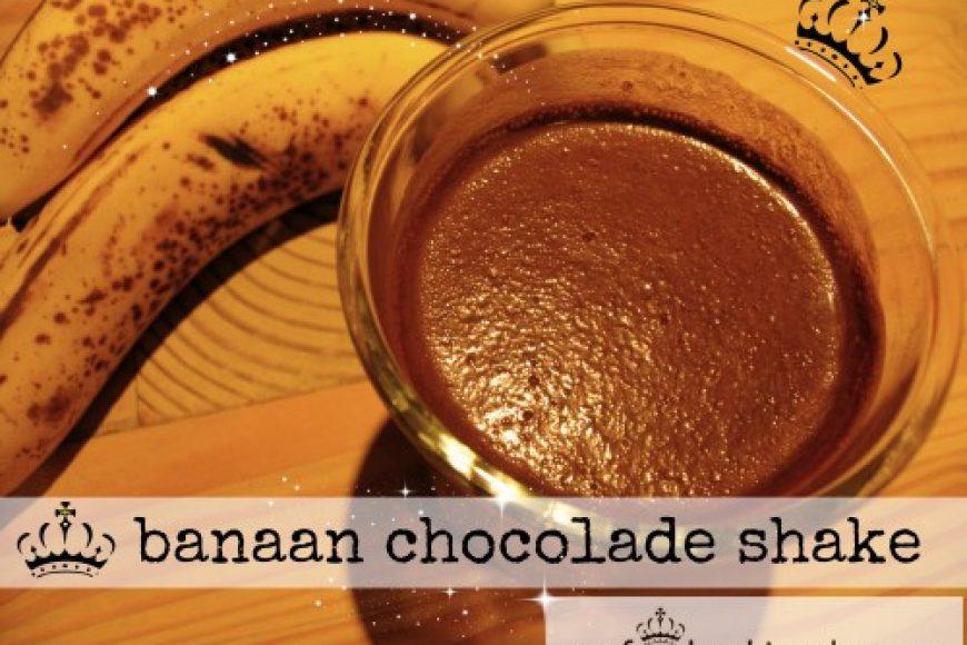 banaan chocolade shake