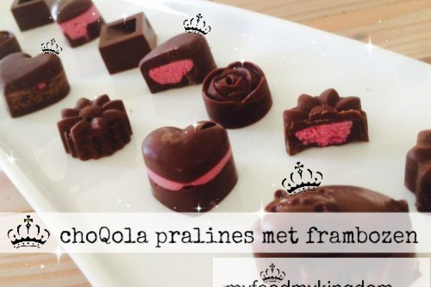 choQola pralines met frambozen