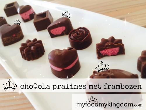 blog choQola pralines met frambozen