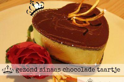 gezond sinaas chocolade taartje