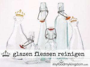 blog glazen flessen reinigen