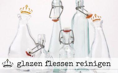 glazen flessen reinigen