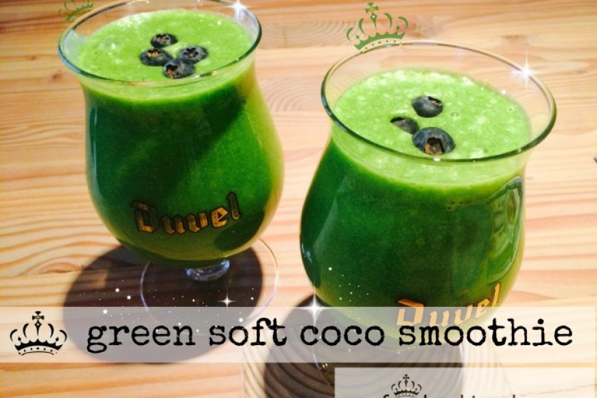 green soft coco smoothie