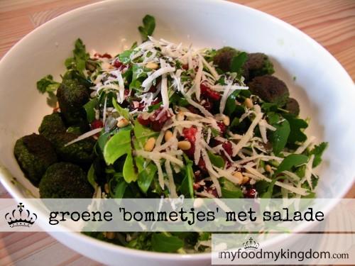 blog groene bommetjes met salade