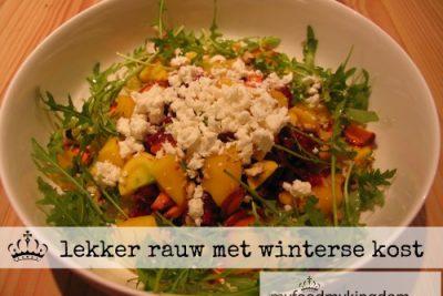 lekker rauw met winterse kost
