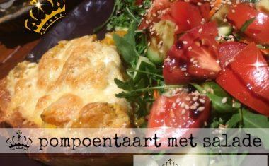 Pompoentaart met salade