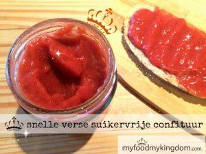 blog snelle verse suikervrije confituur