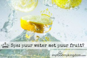 blog spa puur water met puur fruit