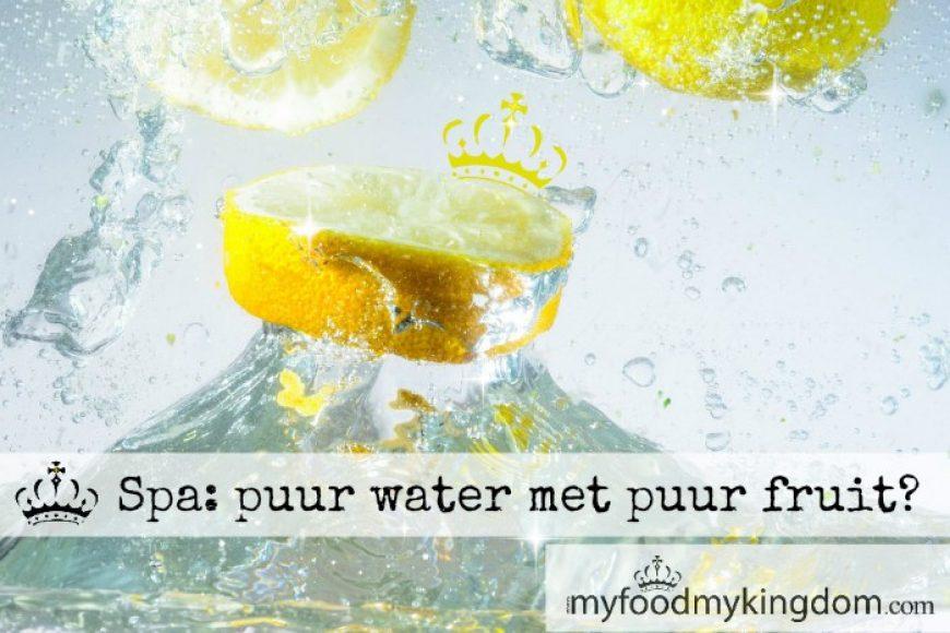 Spa: puur water met puur fruit?