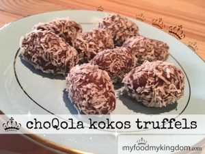 blog choQola kokos truffels