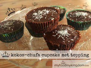 blog kokos chufa cupcake met topping