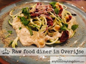 blog raw food diner in overijse