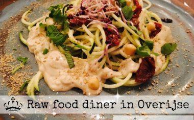 raw food diner in Overijse