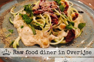 raw food diner in Overijse