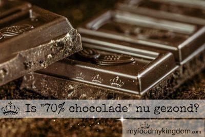 Is 70% chocolade nu gezond?