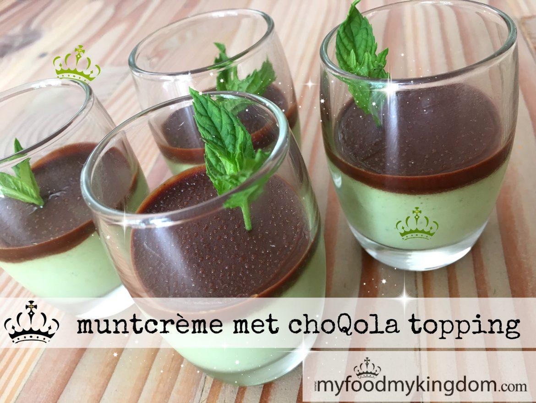 blog muntcreme met choQola topping