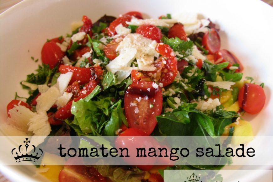 tomaten mango salade