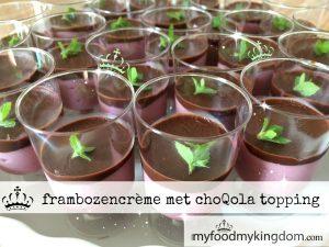 blog frambozencrème met choQ topping