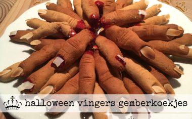 halloween vingers gemberkoekjes
