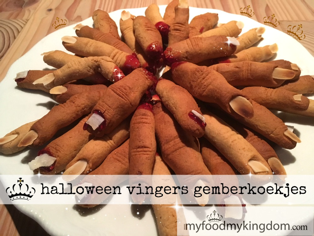 blog halloween vingers gemberkoekjes
