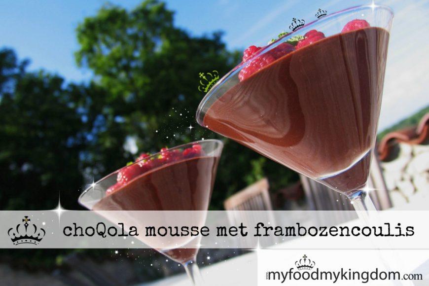 ChoQola mousse met frambozencoulis