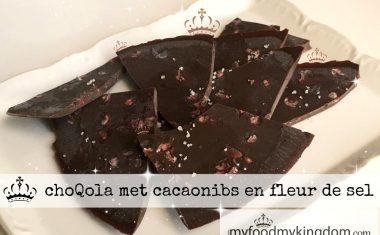 ChoQola met cacaonibs en fleur de sel