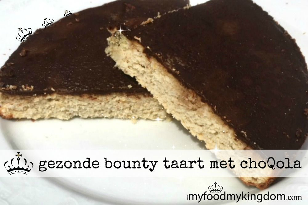 blog gezonde bounty taart met choQola