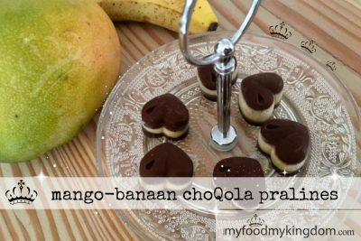 mango banaan choQola pralines