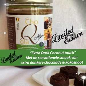 choQola dark coconut product donkergroen