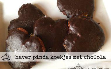 haver pinda koekjes met choQola